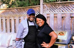 JDI Cleaning Systems Franchise Owner Wendy of Milton with her husband and BBQ